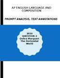 AP English Lang 2010 Prompt Explanation, Text Analysis - D