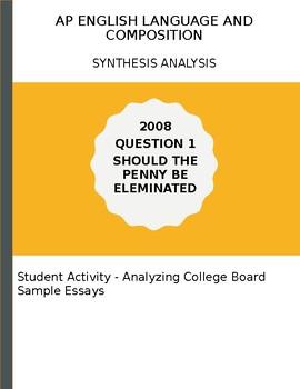 AP English Language 20098 Elimination of the Penny Essay Analysis Activity