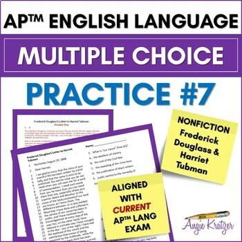 AP English Language (AP Language AP Lang) Multiple Choice Mini Practice Set #7