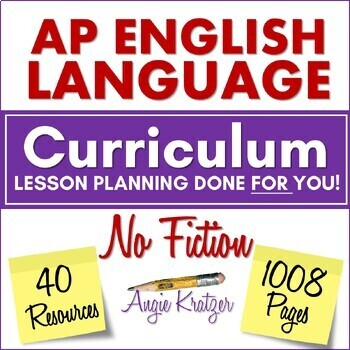AP English Language (AP Language or AP Lang) NO-LIT BUNDLE