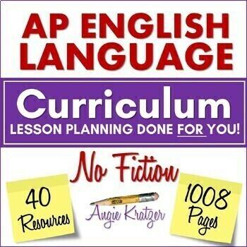 AP English Language (AP Language or AP Lang) NO-LIT BUNDLE