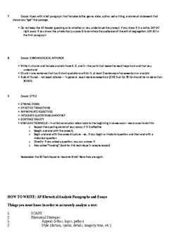 AP English Language: Analysis Student Packet