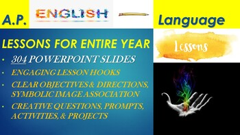 AP English Language & Composition Lessons in PowerPoint (Entire Year - 42 Weeks)
