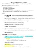 AP English Language Exam Tips Sheet