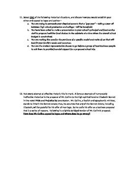 AP English Language Intro to Rhetoric Quizzes
