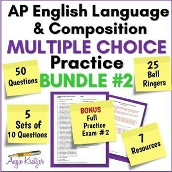AP English Language Multiple Choice Mini Practice BUNDLE #2