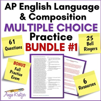 AP English Language Multiple Choice Mini Practice BUNDLE #1