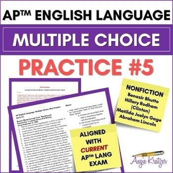 AP English Language Multiple Choice Mini Practice Set #5