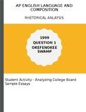 AP English Language Rhetorical Analysis 1999 Okefenokee Sw