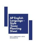AP English Language-Style Essay Planning Sheet
