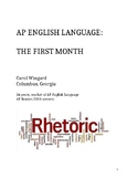 AP English Language: The First Month