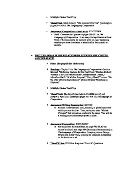 College Board Approved AP English Language and Composition Syllabus