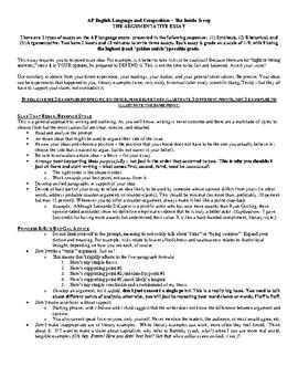 Langauge Arts, Writing- AP English Language and Compositio
