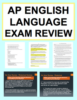AP English Language and Composition Exam Review: NO PREP