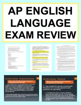 AP English Language and Composition Exam Review: NO PREP