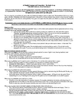 AP English Language and Composition Exam Review, Rhetorical Essay