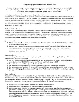 Langauge Arts, Writing- AP English Language and Composition, Synthesis Essay