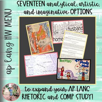 AP English Language and Composition Homework Menu of Options