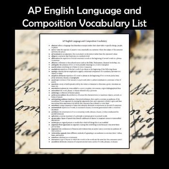 AP English Language and Composition Vocabulary List