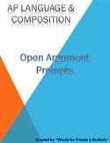 AP English Language open argument prompts