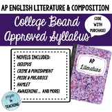 AP English Literature College Board Approved Syllabus with Code