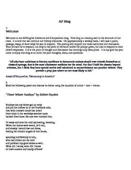 AP English Literature & Composition Blog