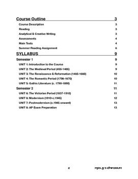 AP English Literature Course Outline