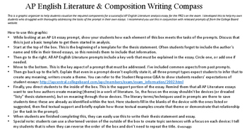 Ap English Literature Essay Compass Graphicwith Thesis Templates