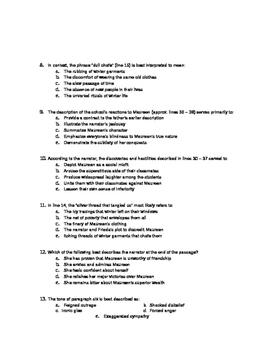 AP English Literature Practice Exam 1