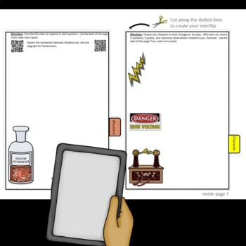 AP English Literature and Composition: QR Mini Flips Growing Bundle