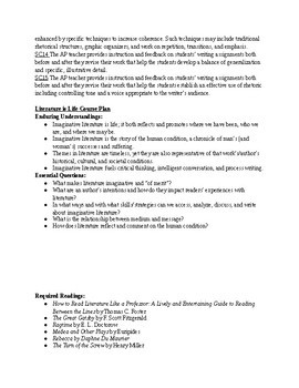 AP English Literature and Composition Syllabus - College Board Approved