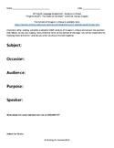 AP English SOAPS assignment analyze critique of Virginia W