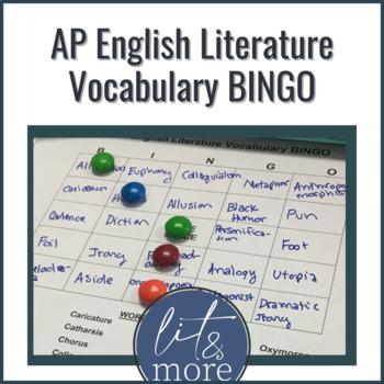 AP Literature Vocabulary Bingo