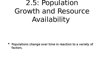 AP Enviro: Population Growth and Resource Availability