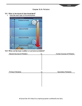 AP Environmental Sci Reading Guide Ch 18 Air Pollution (Miller)