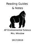 AP Environmental Science 2017-2018 Reading Guides