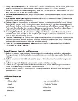 AP Environmental Science College Board Syllabus
