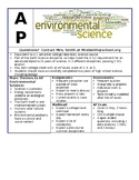 AP Environmental Science Course Information Graphic Handout
