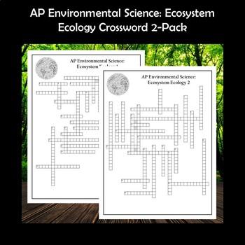 AP Environmental Science Ecosystem Ecology Crossword Puzzles
