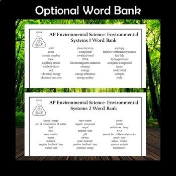 AP Environmental Science Environmental Systems Crossword Puzzles
