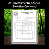 AP Environmental Science Evolution Crossword Puzzle