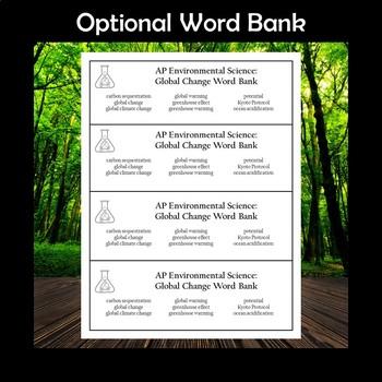 AP Environmental Science Global Change Crossword Puzzle