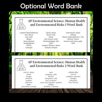 AP Environmental Science Human Health and Environmental Risks Crossword Puzzles