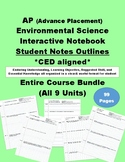 AP Environmental Science Interactive Notebook Student Notes Outline-CED aligned
