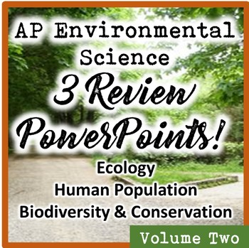 AP Environmental Science (APES) Review 2: Ecology, Humans, & Biodiversity