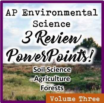 AP Environmental Science (APES) Review 3: Soil, Agricultur