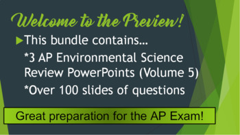 AP Environmental Science (APES) Review 5: Aquatic Ecosystems & the Atmosphere