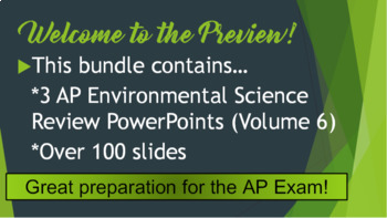 AP Environmental Science (APES) Review 6: Climate Change and Energy Sources