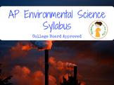 AP Environmental Science Syllabus
