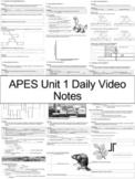 AP Environmental Science - Unit 1 Daily Video Notes (ENTIRE UNIT)
